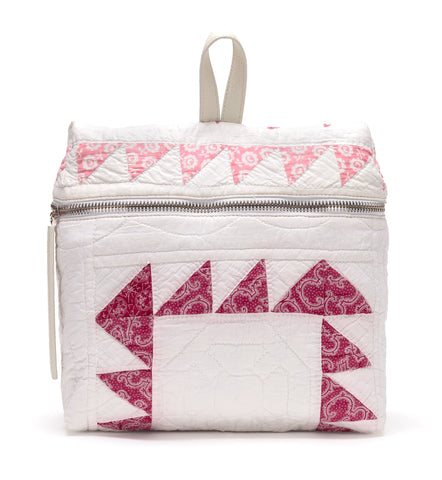 White Quilted Backpack