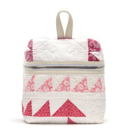 White Quilted Small Backpack
