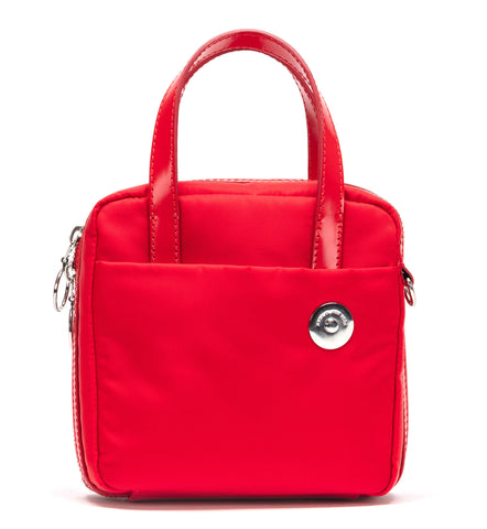 Red Nylon Brick Bag
