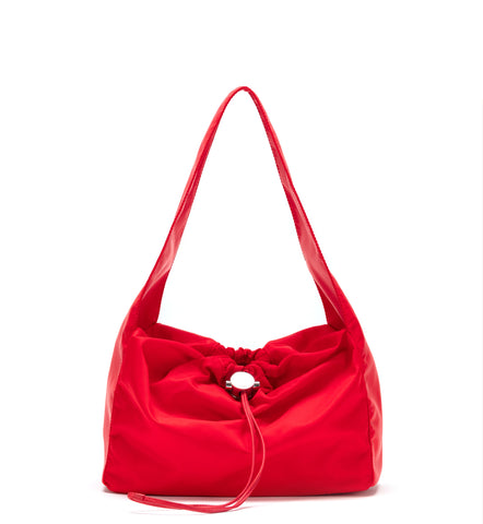 Red Shoulder Cloud Bag