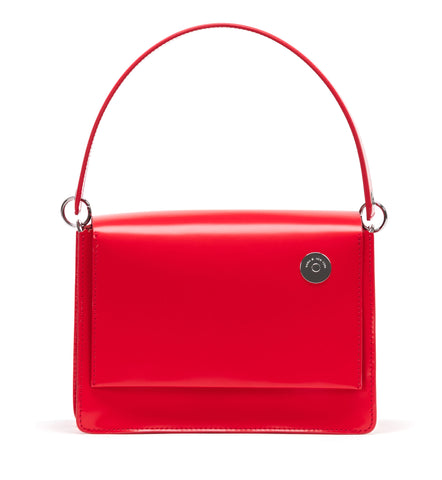 Red Pinch Shoulder Bag