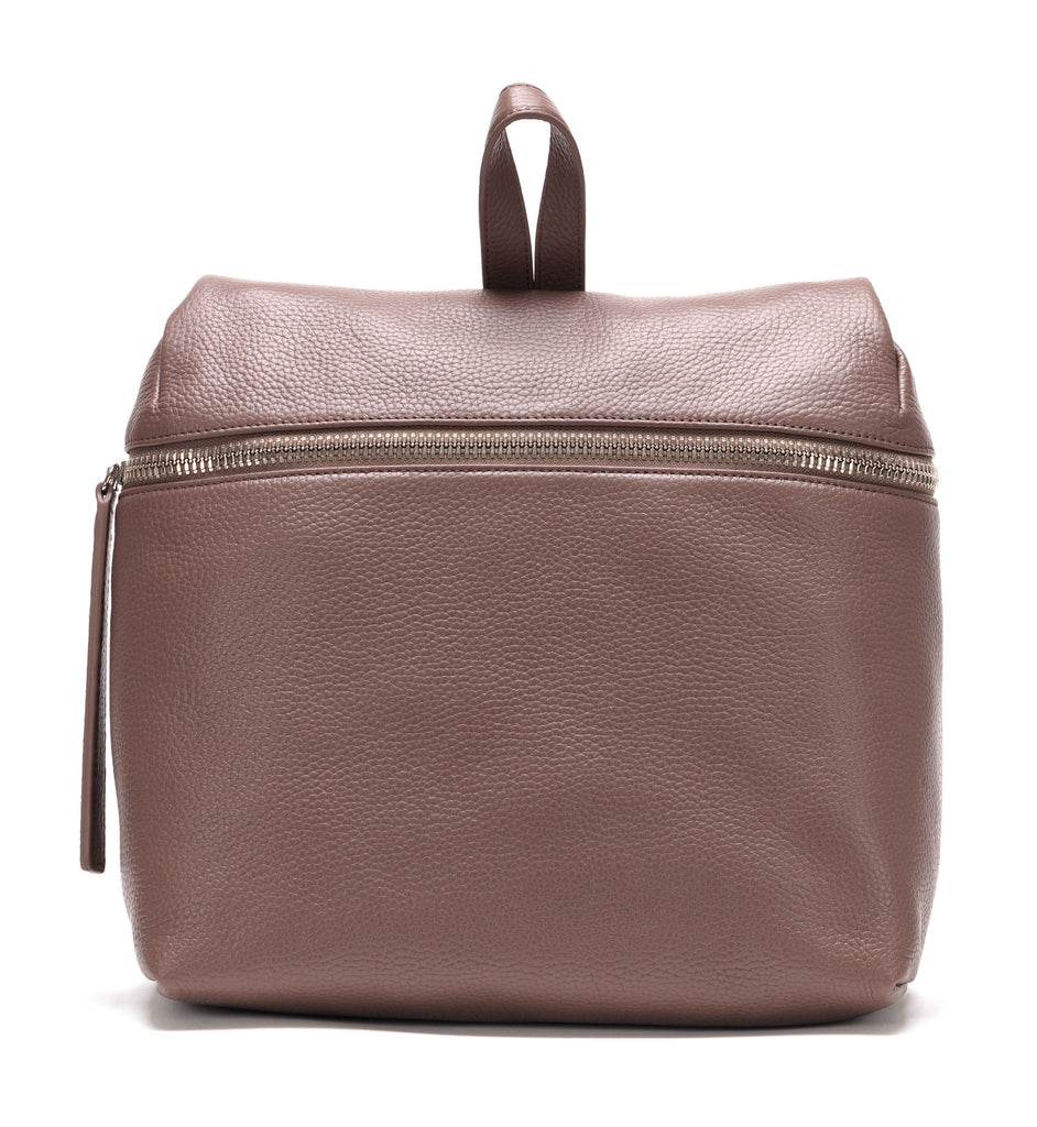 Taupe Pebble Leather Backpack