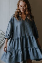 Load image into Gallery viewer, Linen ruffle dress