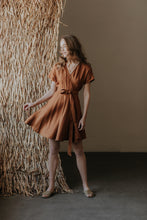 Load image into Gallery viewer, Linen mini boho wrapdress