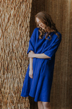 Load image into Gallery viewer, Midi linen dress with belt