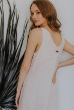 Load image into Gallery viewer, Linen slip dress with slit