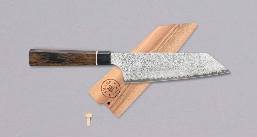 Bunka Black Damascus 165 mm [saya uključena]