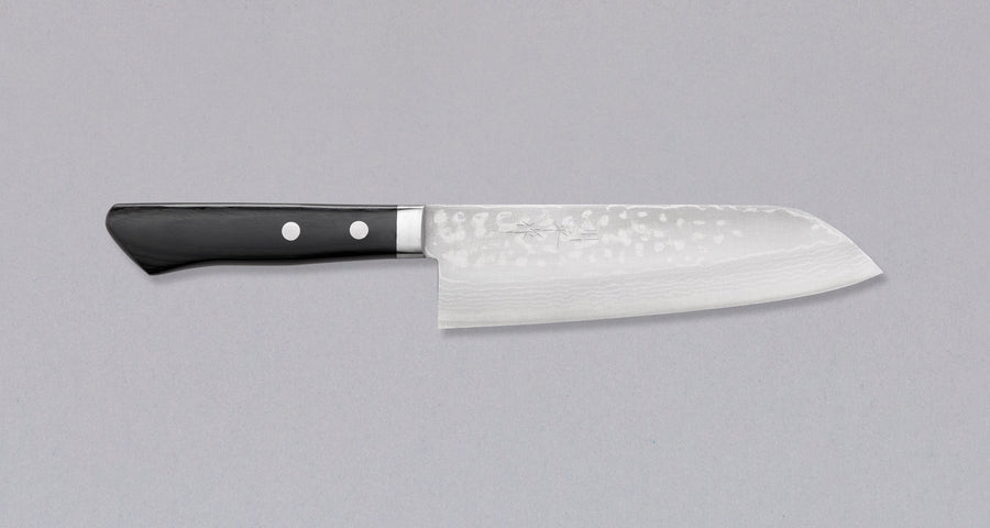 Etsu Village Damascus Santoku Black 170 mm