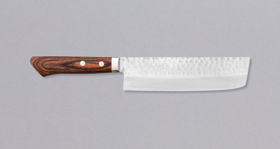 Etsu Village Hammered Nakiri Mahagony 165 mm