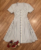 *Journey dress in linen/cotton stripe