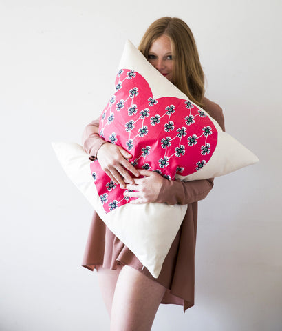 Pillow, Hearts for the Home, African Print