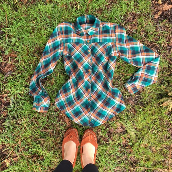 .Gold Miner's Daughter in Emerald Bay Plaid