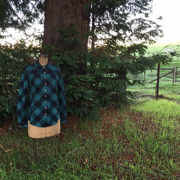 Gold Miner's Daughter green/black buffalo check