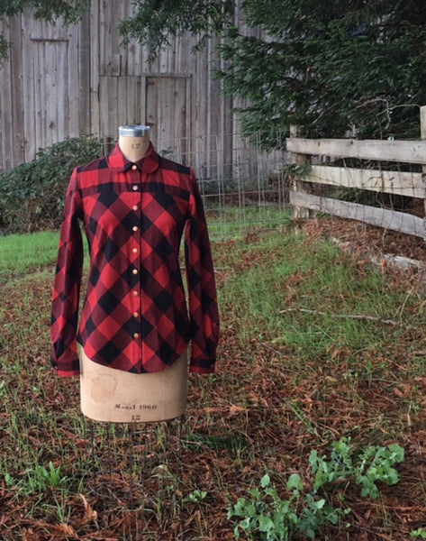 .Gold Miner's Daughter Red/Black Buffalo Plaid