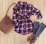 Smoky Mountain Flannel, harvest plaid