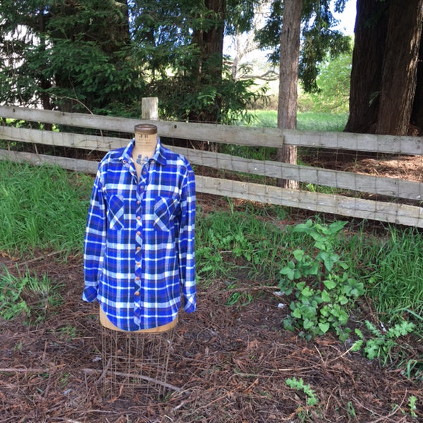 Smoky Mountain in river plaid flannel