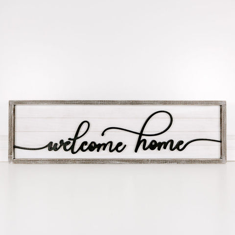"Large Script ""Welcome Home"" Sign"
