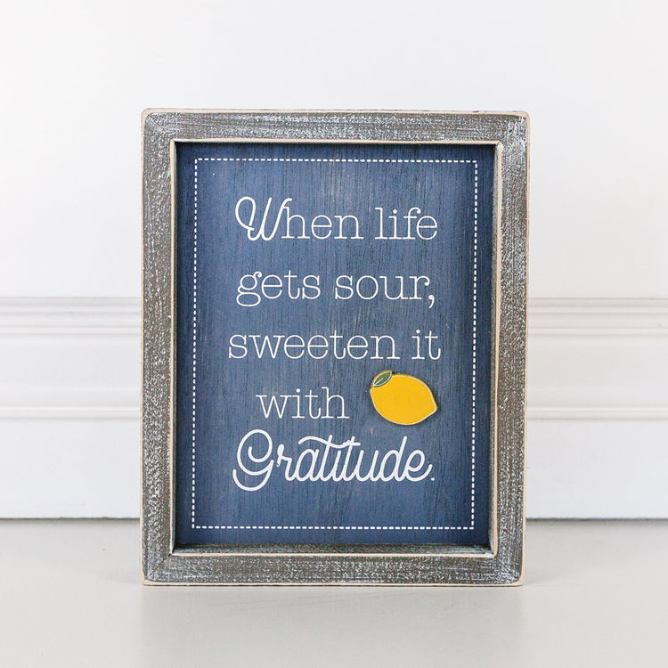 """Sweeten with Gratitude"" Sign"