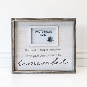Hard to Forget Wood Photo Frame