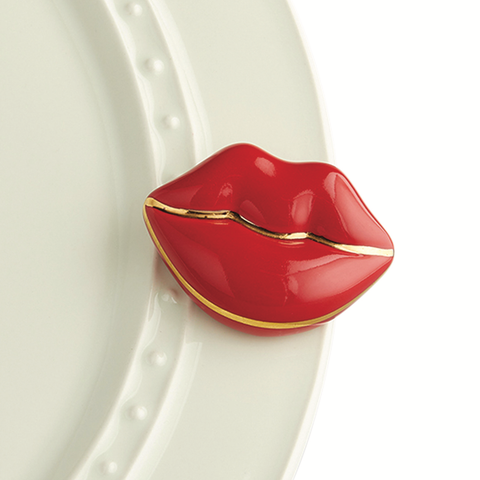 "Nora Fleming Red Lips ""Smooches"" Mini"