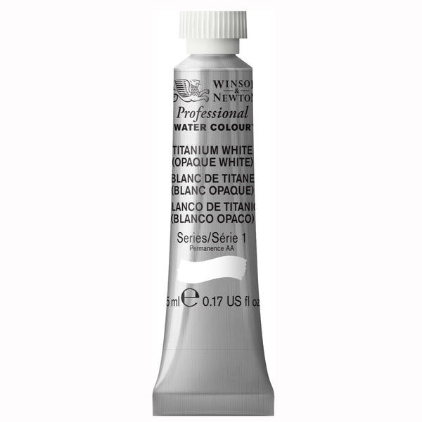 Professional water colour, Titanium White (Opaque), 5 ml