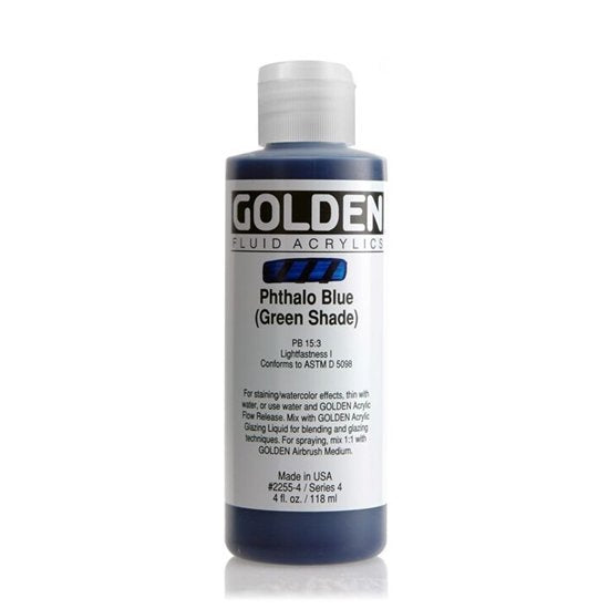 Golden Fluid Phthalo Blue Green Shade 118 ml 22554