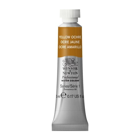 Professional water colour,  Yellow Ochre, 5 ml