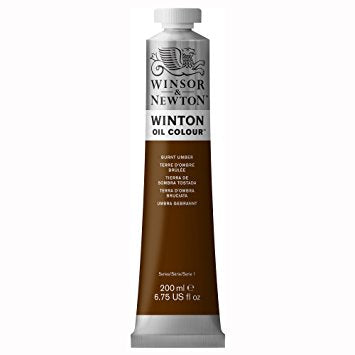 Winton oljemaling. Burnt Umber, 200 ml