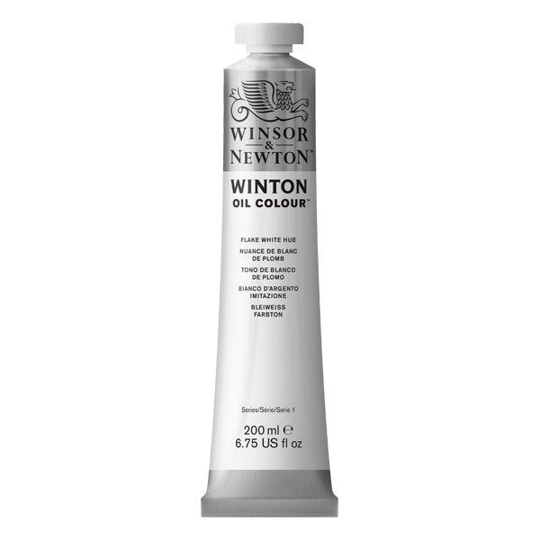 Winton oljemaling, Flake White Hue, 200 ml