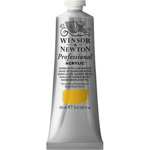 Professional Acrylic, Cadmium Yellow Medium, 60 ml