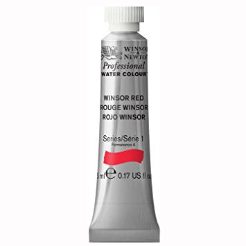 Professional water colour, Winsor Red, 5 ml