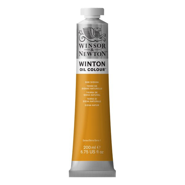 Winton oljemaling, Raw Sienna, 200 ml
