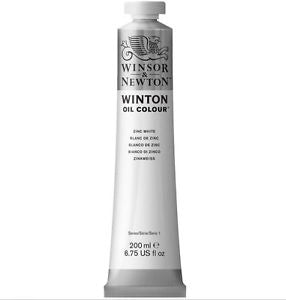 Winton oljemaling, Zinc White, 200 ml