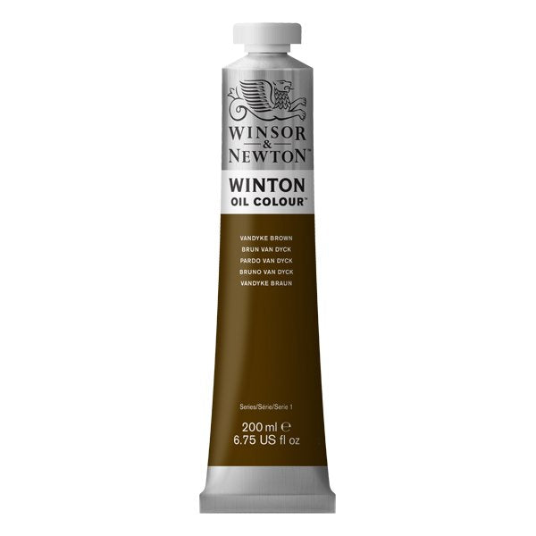 Winton oljemaling, Vandyke Brown, 200 ml