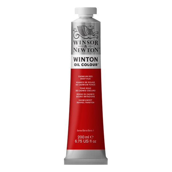 Winton oljemaling, Cadmium Red Deep Hue, 200 ml