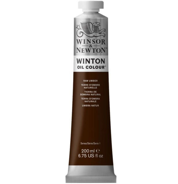 Winton oljemaling, Raw Umber, 200 ml