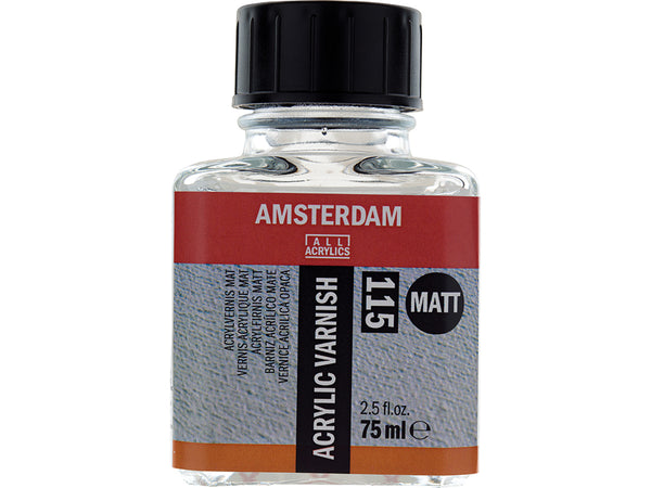 Amsterdam Varnish Matt 115 – 75ml til olje og akryl