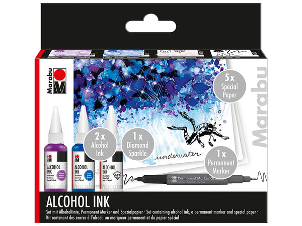 Marabu Alcohol Ink Set – UNDERWATER