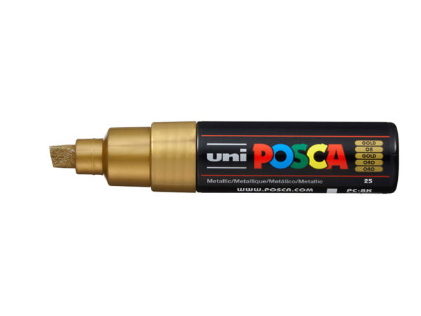 Uni POSCA PC-8K – Chisel 8mm – Gold