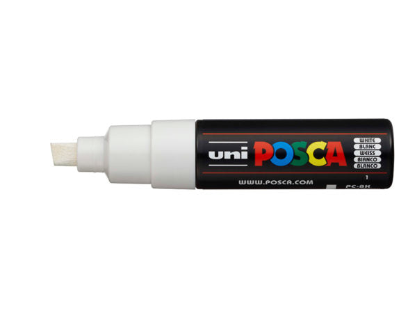 Uni POSCA PC-8K – Chisel 8mm – White