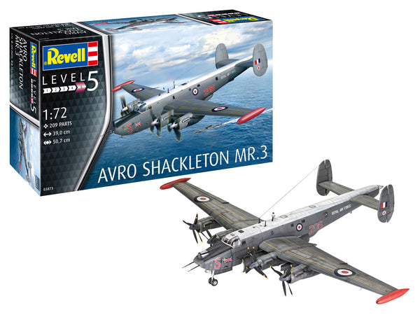 Revell 1:72 03873 Avro Shackleton MR.3 Model Aircraft Kit