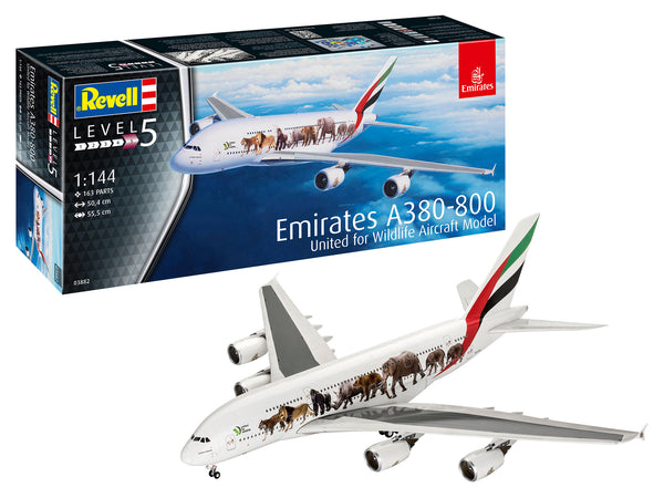 "Revell 1:144 03882 Airbus A380-800 Emirates ""Wild Life"" Model Aircraft Kit"