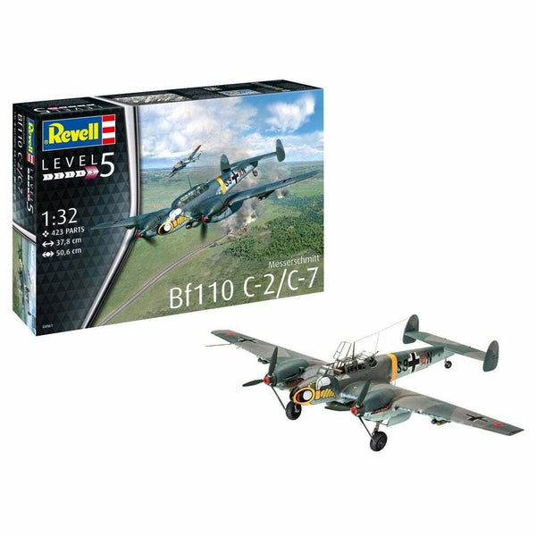 Revell 1:32 04961 Messerschmitt Bf110 C-7 Model Aircraft Kit