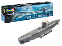 Revell 1:72 05166 German Submarine Type IXC U67/U154 Model Ship Kit