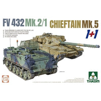 Takom 1:72 05008 FV432 Mk 2/1 & Chieftain Mk 5 1+1 Model Military Kit