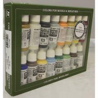 Vallejo 70146 Model Colour Set - Naval Steam Era 16 Colour Acrilic Paint Set