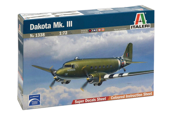 Italeri 1:72 1338 Dakota Mk.III Model Aircraft Kit