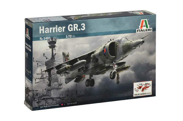 Italeri 1:72 1401 Harrier GR.3 Falklands War Model Aircraft Kit