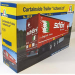 "Italeri 1:24 3918 Curtainside Trailer ""Schoni"" Model Truck Kit"
