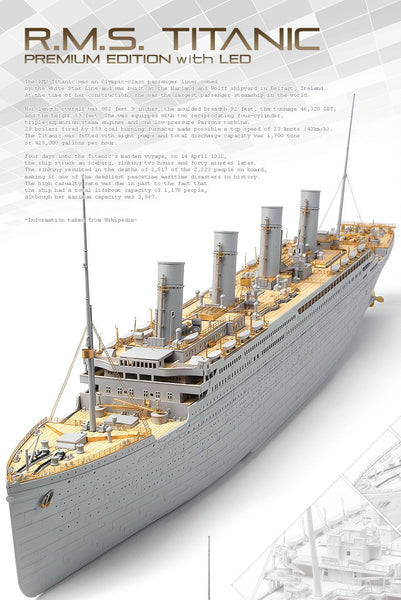 Academy 1:400 14226 R.M.S. Titanic Premium Edition with LED Model Ship Kit